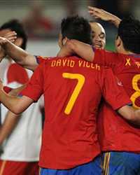 Silva, Villa, Iniesta, Xavi, España, Polonia (Getty Images)