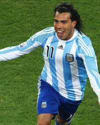 World Cup 2010 - Argentina vs Mexico,  Carlos Tevez   (Getty Images)