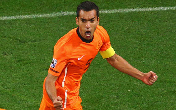 FIFA World Cup 2010 -Uruguay vs Netherlands,  Giovanni Van Bronckhorst (Getty Images)