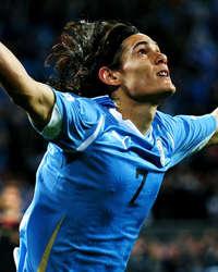 World Cup 2010 - Uruguay vs Germany,Edinson Cavani (Getty Images)