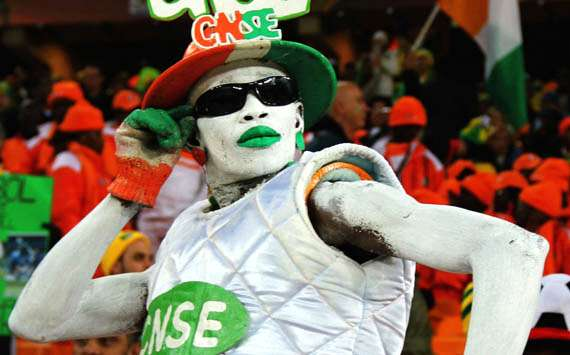 2010 FIFA World Cup,An Ivory Coast fan enjoys the atmosphere,Brazil v Ivory Coast(Getty Images)