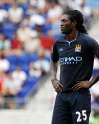 Pre season: Emmanuel Adebayor ,Manchester City - New York Red Bulls(Getty Images)