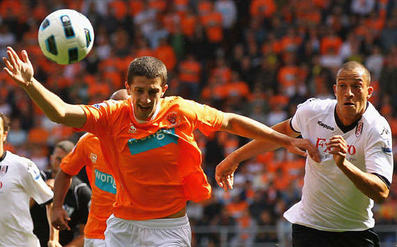 BPL - Blackpool vs Fulham, Bobby Zamora and Craig Cathcart , (Getty Images)
