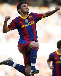 David Villa, Racing Santander, Barcelona (Getty Images)