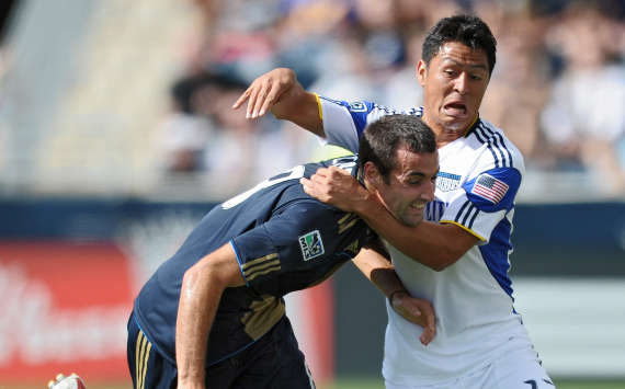 Andrew Jacobson, Philadelphia Union; Roger Espinoza, Kansas City Wizards; MLS (Getty Images)