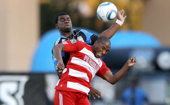 Brandon McDonald, San Jose Earthquakes; Jeff Cunningham, FC Dallas; MLS (Getty Images)