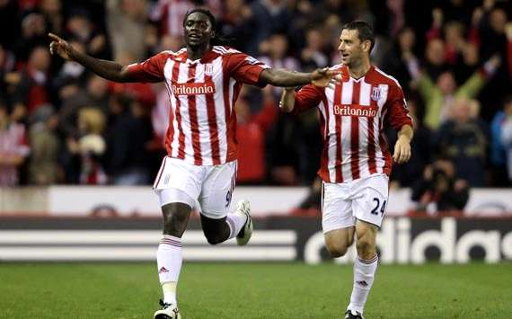 EPL : Kenwyne Jones  Rory Delap,   Stoke City - Aston Villa (Getty Images)