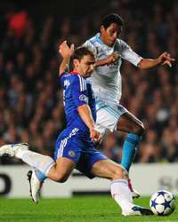 Champions League;  Branislav Ivanovic - Brandao,  Chelsea vs Marseille (Getty Images)