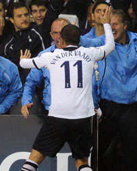 Rafael van der Vaart,Tottenham Hotspur vs FC Twente,UEFA Champions League(Getty Images)