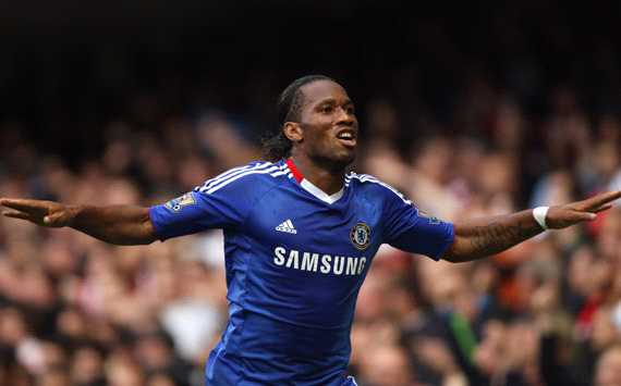EPL : Didier Drogba,   Chelsea- Arsenal (Getty Images)