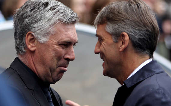 Roberto Mancini - Manchester City &amp; Carlo Ancelotti - Chelsea (Getty Images)