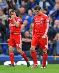 EPL : Fernando Torres- Jamie Carragher- Lucas ,  Everton vs Liverpool (Getty Images)