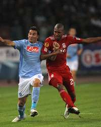 Aronica e Ngog in Napoli-Liverpool (Getty Images)