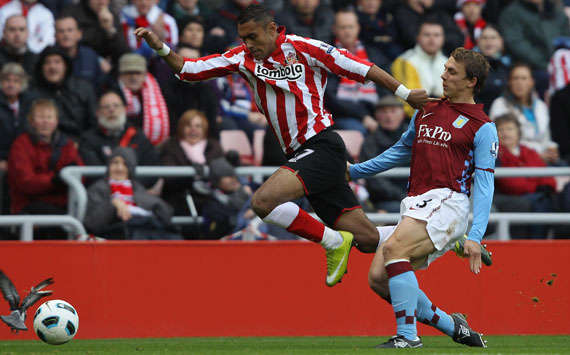 BPL, Sunderland and Aston Villa, Ahmed Elmohamady and Stephen Warnock (Getty Images)