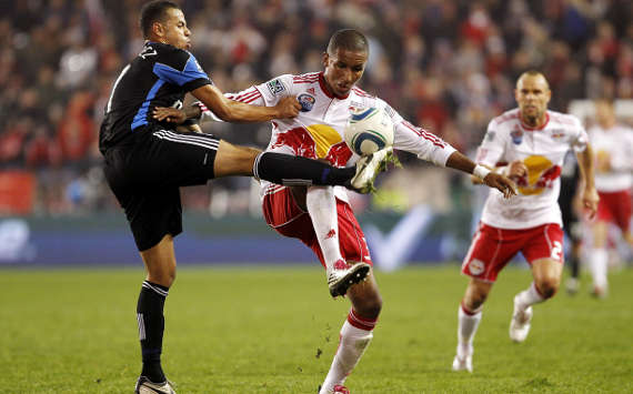 Jason Hernandez, San Jose Earthquakes; Juan Agudelo, New York Red Bulls; MLS (Getty Images)