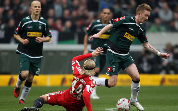 Bundesliga: Borussia Monchengladbach - Bayern Munich, Tymoshchuk, Reus (Getty Images)