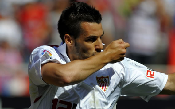 Getafe - Sevilla: lvaro Negredo hace el gol de la semana