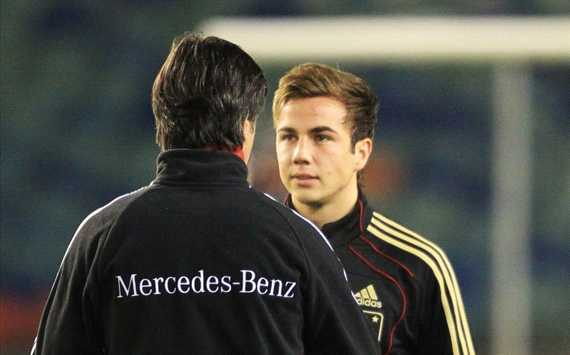 Germany: Mario Goetze, Jogi Loew (Getty)