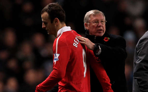 Sir Alex Ferguson and Dimitar Berbatov, Manchester United(Getty Images)
