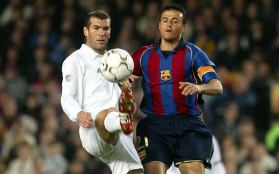 Zinedine Zidane, Luis Enrique,  Barcelona, Real Madrid, 2002 (Getty Images)