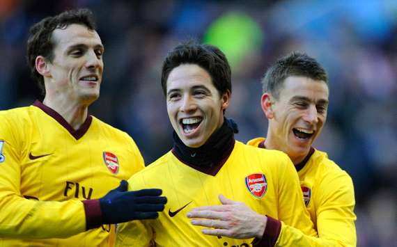 EPL : Samir Nasri , Aston Villa vs Arsenal (Getty Images)