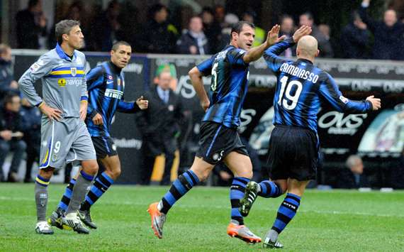 Cambiasso-Stankovic-Crespo - Inter-Parma - Serie A (Getty Images)
