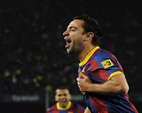 Liga BBVA: Xavi Hernandez (FC Barcelona) celebrates in Clasico (Getty images)