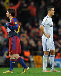 Bracelona - Real Madrid, Lionel Messi, Cristiano Ronaldo (Getty Images)