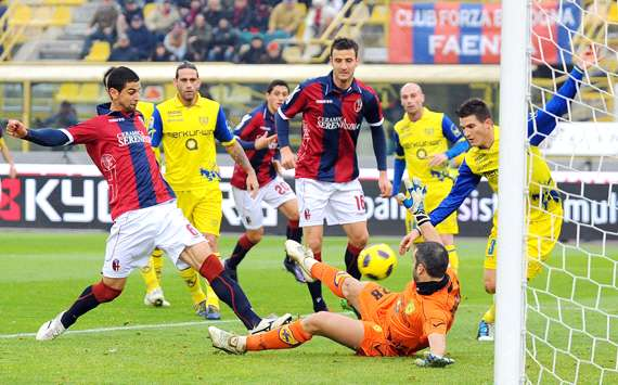 Britos firma la rete del momentaneo 1-0 in Bologna-Chievo (Getty Images)