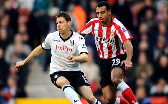 BPL, Fulham and Sunderland, Zoltan Gera and Anton Ferdinand (Getty Images)