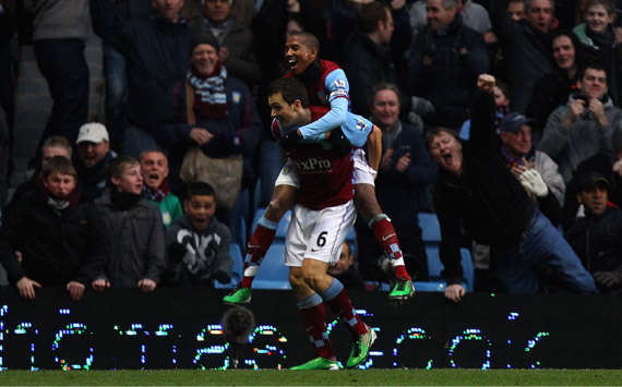 EPL,Stewart Downing, Ashley Young, Aston Villa vs West Bromwich Albion (Getty Images)
