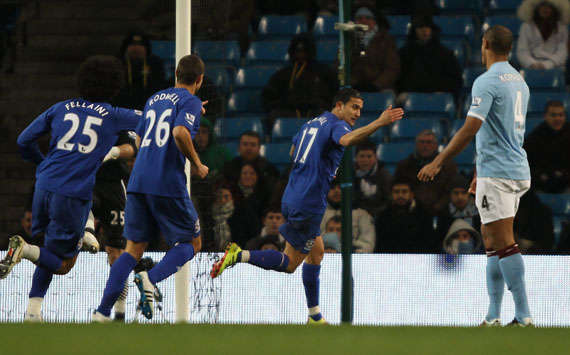 EPL - Manchester City vs Everton, Tim Cahill(Getty Images)