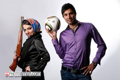 یك مصاحبه جذاب درباره فوتبال و سینما جوادنكونام و لیلا اوتادی در یك مصاحبه مشترك