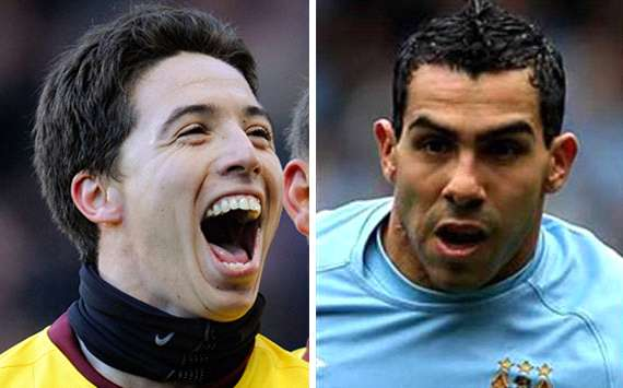Nasri v Tevez - who has been more important this season?