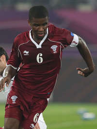 Bilal Mohhamed, Qatar vs Uzbekistan (Getty Images)