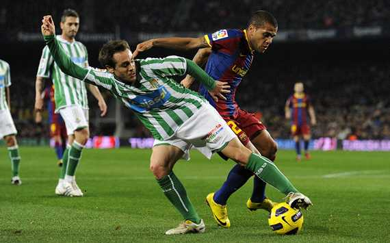 Dani Alves, Nacho, Betis, Barcelona, Copa del Rey (Getty Images)