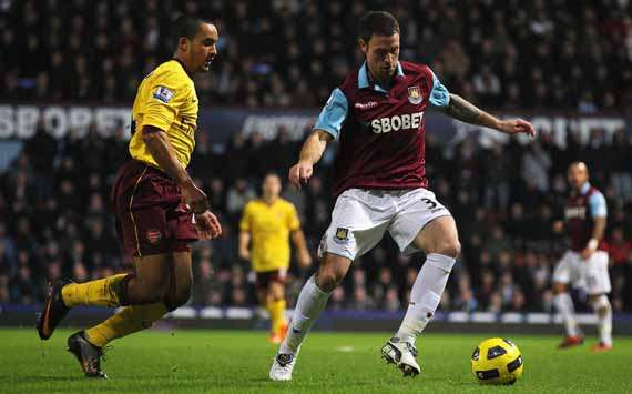 BPL, West Ham United and Arsenal, Wayne Bridge and Theo Walcott (Getty Images)