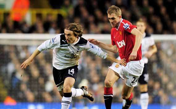 BPL, Tottenham Hotspur and Manchester United, Luka Modric and Darren Fletcher  (Getty Images)