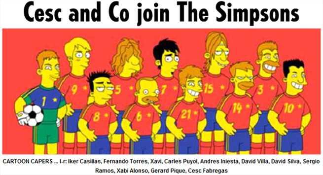 گزارش روز:سیمپسون ها حامیان اسپانیا در جام کنفدراسیون ها