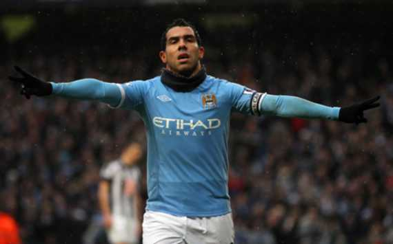 EPL : Carlos Tevez, Manchester City v West Bromwich(Getty Images)