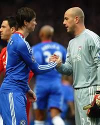 EPL : Fernando Torres - Pepe Reina , Chelsea vs Liverpool (Getty Images)