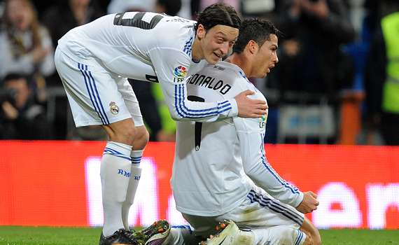 Mesut Ozil, Cristiano Ronaldo, Real Madrid (Getty Images)