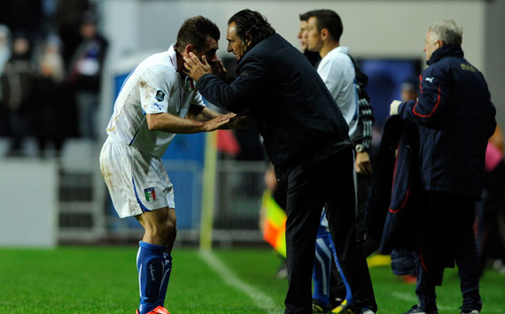 Cassano & Prandelli - Italy (Getty Images)