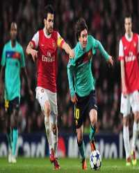 UEFA Champions League  - Arsenal vs Barcelona , Lionel Messi and Cesc Fabregas(Getty Images)