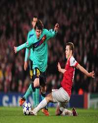 CL, Arsenal and Barcelona, Lionel Messi and Jack Wilshere (Getty Images)