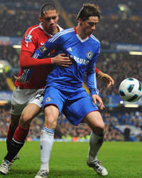 EPL : Fernando Torres - Chris Smalling, Chelsea v Manchester United