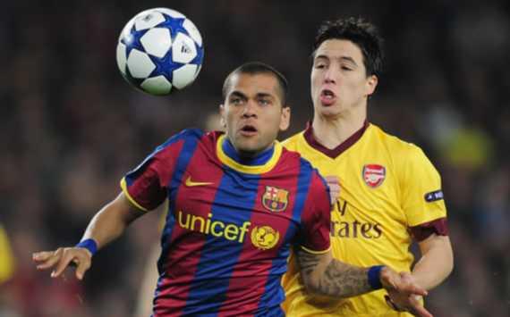 Dani Alves, Samir Nasri, Barcelona, Arsenal