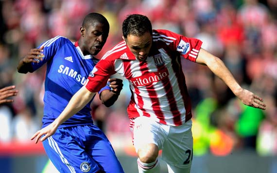 BPL, Stoke City v Chelsea, Ramires and Matthew Etherington