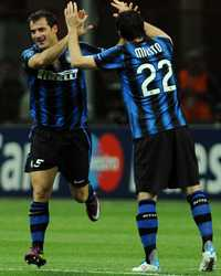 Champions League: Inter - Schalke 04, Stankovic, Diego Milito (Getty Images)