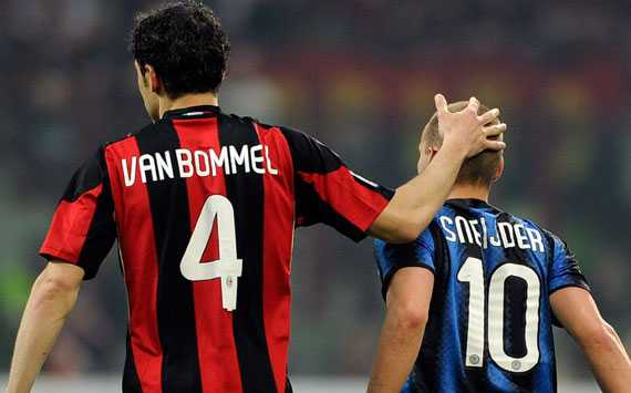 Van Bommel & Sneijder - Milan-Inter (Getty Images)